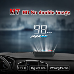 Car Heads Up Display Australia - speed display HEAD up display HUD M7 projector on windshield 5.5inch screen error fault indicator driving data display OBD2 CAR