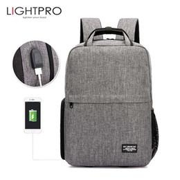 Camera Bag Case Dslr Australia - heap Camera Video Bags Photo DSLR Camera Shoulders Waterproof Oxford Backpack Tripod Bag fit for 15.6inch Laptop Case with USB Port for C...