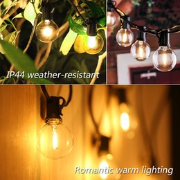 outdoor patio curtains Canada - Patio LED Globe Bulb String Light G40 Hanging 12 Bulbs Lamp Strings Lights Indoor Outdoor Backyard Christmas Party Decor