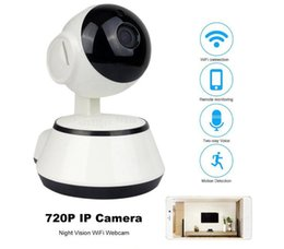 cctv security systems wholesale Canada - Wifi IP Camera Surveillance 720P HD Night Vision Two Way Audio Wireless Video CCTV Camera Baby Monitor Home Security System DHL shipping