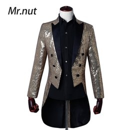 $enCountryForm.capitalKeyWord Australia - Men Sequin Slim Fit Tuxedos Blazer Blue Gold Purple Sliver Stage Singer Prom Dresses Costume Wedding Groom Suit Jacket