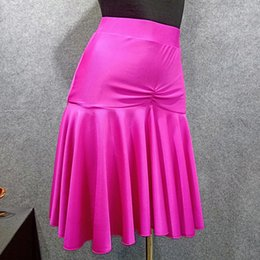 $enCountryForm.capitalKeyWord Australia - Latin Dance Skirt Female Adult Black Pink Performance Dance Clothes Lotus Leaf Training Skirt For Ballroom Cha Cha Samba DL4084