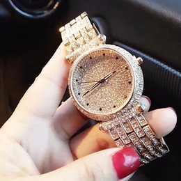 wrist watch brass UK - Rhinestone Diamonds ladies wrist watch 2017 new fashion LGXIGE brand luxury watch women bracelets brass metal watch montre femme T200519