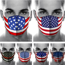 american flag fashion accessories Canada - 3D American Flag Print Face Mask Fashion Dustproof Masks Women Men Washable Cotton Designer Face Mask Outfdoor Sports Protective Masks New