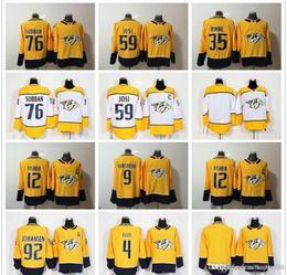 af4a6435a 2018 35 Pekka Rinne Hockey Jersey 76 P.K. Subban 59 Roman Josi 92 Ryan  Johansen 12 Mike Fisher 9 Filip Forsberg Nashville Predators S-3XL YW
