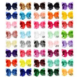 Grass Hair Clips Australia - 4 Inches Fashion jojo bows baby girl hair barrettes Sequins Fox Mermaid Unicorn Rainbow Clippers Girls Hair Clips JOJO SIWA Hair Accessories
