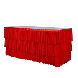 $enCountryForm.capitalKeyWord Australia - Adeeing 3-Layer Elastic Mesh Fluffy Table Skirt Tulle Tableware Tablecloth for Party Wedding Birthday Home Decoration