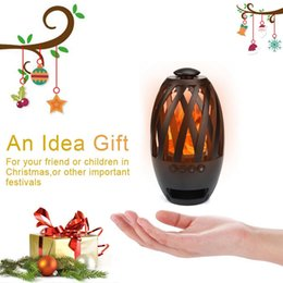 Audio Business NZ - Creative waterproof and dustproof Bluetooth speaker sound box led flame lamp cafe bar atmosphere lamp business gift lamp For iphone huawei