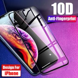 4b066fdd6c6 10D cubierta completa de cristal templado película para iPhone X XR XS Max  7 8 Xiaomi Mi 9 9T Pro Redmi Note 7 6 Pro Y3 película Protector de pantalla
