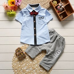 $enCountryForm.capitalKeyWord NZ - Baby SPORTS Clothing Sets Kids Clothes Autumn Baby Sets Kids Long Sleeve Sports Suits Bow Tie T-shirts Pants Boys Clothes