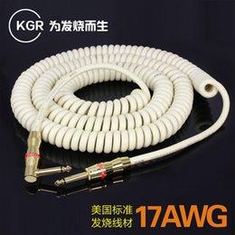 KGR câble de guitare guitare électrique ligne téléphonique réduction du bruit blindage câble de guitare professionnel fièvre 20 ft
