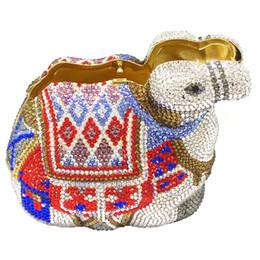 $enCountryForm.capitalKeyWord Australia - Dgrain Famous Brand Women Crystal Camel Evening Bags Bridal Wedding Party Prom Handbags & Purses Metal Mini Box Minaudiere Clutch Bag Purse