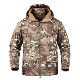 c31a903d584 Camouflage Jacket Army Tactical Soft Shell Fleece Jacket Men Winter Shark Skin  Windbreaker Waterproof Warm Coat Clothes