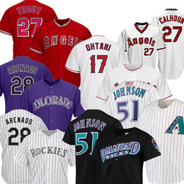28 Nolan Arenado 27 Mike Trout 17 Shohei Ohtani Baseball 51 Randy Johnson Paul 44 der Firma Goldschmidt Baseball im Angebot