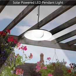 solar sheds NZ - Solar Powered Pendant Lights Led Solar Shed Light Outdoor Garden Patio Light Solar Barn Light Remote Control Hanging Lamp For Indoor Outdoor