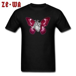 $enCountryForm.capitalKeyWord NZ - HEART BUTTERFLY T Shirt Men 100% Cotton T-shirt Light Blue Tops Novelty Designer Tees Short Sleeve Clothes Street Style Tees