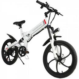 Samebike 20ZANCHE Akıllı Katlanır Moped Elektrikli Bisiklet E-bike - BEYAZ AB TAK indirimde