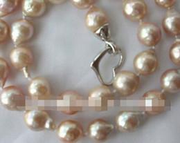 Edison Chain Australia - FREE SHIPPING+ 13mm baroque pink Edison keshi reborn pearl necklace