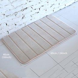 40x60cm Bath Non-slip Mat Bedroom Non-slip Mats Coral Fleece Memory Foam Rug Shower Carpet Bathroom Kitchen Floor Pad 13 Colors DH1120 on Sale