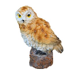 ceramics owl Australia - Resin Imitation Mini Owls Miniature House Fairy Garden Micro LandscapeGarden Outdoor Patio Decoration Plant Pots Bonsai Craft