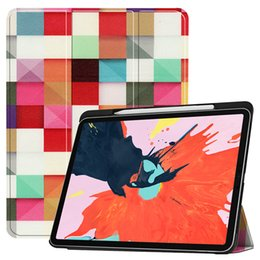 $enCountryForm.capitalKeyWord NZ - Magnet Auto Sleep Wake UP Smart Cover PU Leather Case with Pencil Slot for Apple iPad Pro 12.9 2018 Released Tablet + Stylus