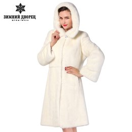 short mink fur NZ - best seller Fashion Slim Fur white long mink fur coat,warm winter new mink fur coat,mink leather coat MX191207