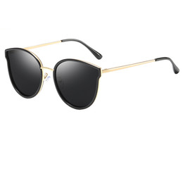 lady sunglasses gold UK - Luxury evidence millionaire sunglasses retro gold frame cat eye sunglasses ladies brand designer HD sunglasses top quality glasses