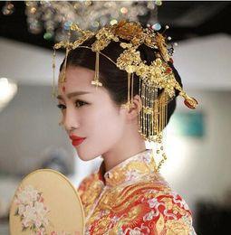 $enCountryForm.capitalKeyWord Australia - Restoration Bride Crown Queen Headdress Chinese Wedding Bride Ancient Headdress Xiuhe Dress Cheongsam Hair Jewelry