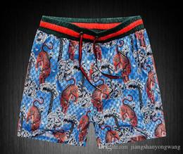 Ingrosso GOOD Board Shorts Mens Summer Beach Shorts Pantaloni Swimwear di alta qualità Bermuda Lettera maschile Surf Life Men Swim Tiger sup Shorts g pants 8218