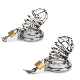 Models Penis Australia - Stainless Steel Male Chastity Adult Cock Cage With Curve Cock Ring Sex Toys For Men Penis Lock chastity cage 2 Model Choose