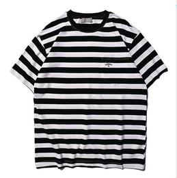 Striped ShirtS for women online shopping - 2019ss Noah Logo Embroidery Striped Women Men Short Sleeve T shirts tees Hiphop Streetwear Men Cotton T shirt Noah For Summer
