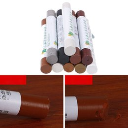 furniture pens UK - Furniture Paint Floor Repair Floor Wax Crayon Scratch Patch Paint Pen Wood Composite Repair Material Wood Repair Kit