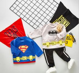 $enCountryForm.capitalKeyWord Australia - 19 New Spring and Autumn Batman Batman Long Sleeve Two-piece Kids Suit for Batman Children Aged 0-4 year old suit Best-selling new models
