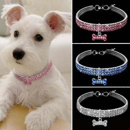 rhinestone dog collars leashes Australia - Bling Rhinestone Pet Dog Cat Collar Crystal Puppy Necklace Collars Leash For Small Medium Dogs Diamond Jewelry