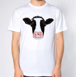 93019eaf Cow T-Shirt Fashion Classic Loose High Quality Personality Breathable Print  O-Neck T Shirt