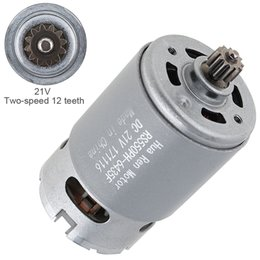 gears for dc motors NZ - RS550 21V 19500 RPM DC Motor with Two-speed 12 Teeth and High Torque Gear Box for Electric Drill   Screwdriver