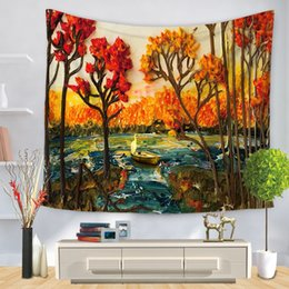 92c9265cab4ba Tapestry Rooms Australia - Trees Tapestry Polyester Fabric Wall Hanging  Tapestry Home Decoration for Living Room