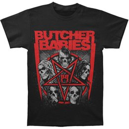 $enCountryForm.capitalKeyWord Australia - Butcher Babies Men's Star Skull T-shirt Medium Black Hip Hop men tshirt rock Unisex t shirt Fashion Tops Cool Summer Tees