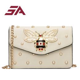 Ladies Rhinestone Handbags Australia - Sa Bags For Women 2018 Luxury Rhinestones Bee Purses Handbag Small Chain Crossbody Bag Ladies Evening Party Bag Flap Bag Summer J190518