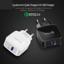 Discount 5v 3a charger adapter - 18W USB Phone Charger Quick Charge 3.0 Fast Mobile Phone Charger 5V 3A 9V 2A Travel Wall Adapter for iphone Samsung Gala