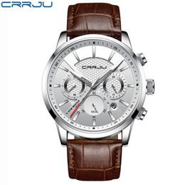 Luxury Sport Casual Watches Australia - Quartz Watch Men Crrju 2019 Top Brand Luxury Leather Mens Watches Fashion Casual Sport Clock Men Wristwatches Relogio Masculino Y19052103