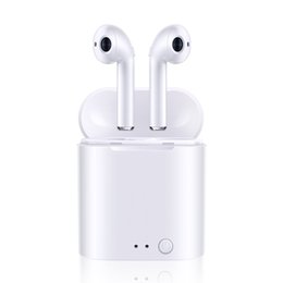 i7 plus ear phones Canada - i7 I7S TWS Wireless Earphone 5.0 Portable Bluetooth Headset Invisible Earbud for IPhone X XS 8 7 Plus For Xiaomi Mobile Android Phones 006