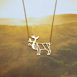 $enCountryForm.capitalKeyWord Australia - 5pcs new small elk Antler Christmas deer pendant clavicle Necklace Reindeer Horn Stag Necklaces Cute animal Fawn Necklaces jewelry