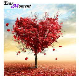 tree scenery paintings UK - wholesale Tree Scenery Diamond Painting Picture Mosaic Full Square Drill 5D DIY Diamond Embroidery Rhinestones S2F1164