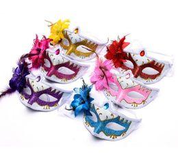 $enCountryForm.capitalKeyWord Australia - New Halloween Mask Female Half Face Sexy Retro Cute Children Mask Ball Party Princess Adult Mask WL734