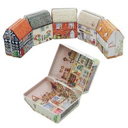 Eco Metal Storage Boxes NZ - Mini Metal Box Empty Tin Storage Box Tinplate Dream House Tin Metal Container Small Storage Kids Gift