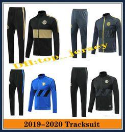 Wholesale green tracksuit mens for sale – custom 2019 INTER Mens soccer tracksuit jackets sets ICARDI nainggolan CANDREVR tracksuit jacket tuta sportiva