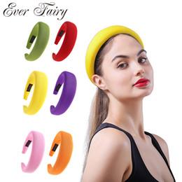 $enCountryForm.capitalKeyWord Australia - Women Sponge Velvet Hair Hoops Fashion Girls Plastic Headwear Ladies Boho Headbands Solid Hair Bands Accessories For Women