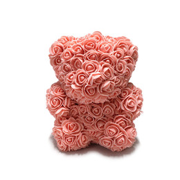 China Rose Bear Flower Teddy 9 Inch Gifts For Wedding Birthday Valentine Cute Flower Foam Bears from Rose Wedding Home Decorations cheap cute valentines day gifts suppliers