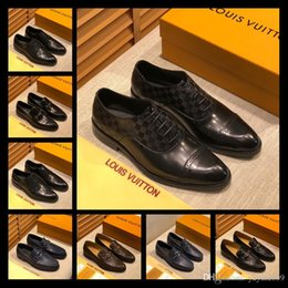 sexy wedding dresses men NZ - A6 52 models Fashion Luxury Brands Men Dress Shoes Mens Design Dress Shoe Sexy Party Wedding Shoe Mens Luxury Sneakers